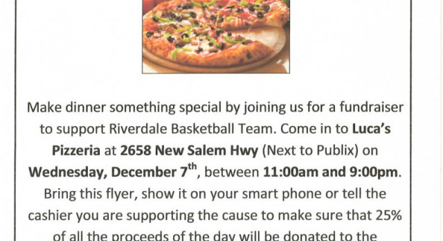 Boys Basketball Pizza Fundraiser