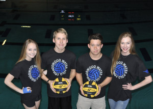 Water Polo Team Captains Brittany Ratliff, Thomas Nagle, Nick Calapan, and Sydney Gurry