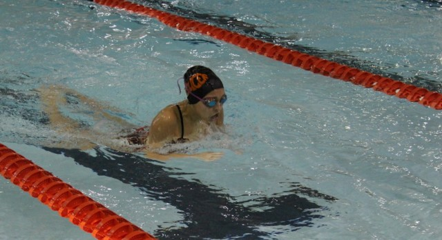 LaPorte High School Girls Varsity Swimming beat Merrillville High School 109-73