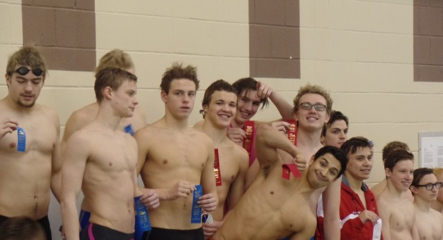 LaPorte High School Boys Varsity Swimming finishes 2nd place