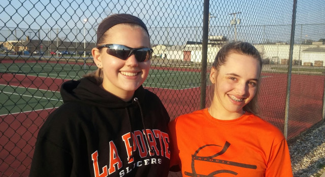 LaPorte High School Girls Varsity Tennis beat Elkhart Central High School 3-2