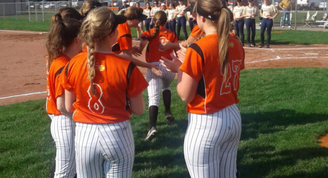 LaPorte High School Varsity Softball falls to Lake Central High School 2-1