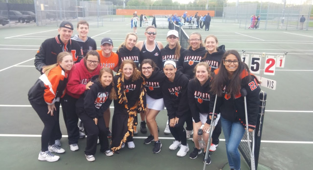LaPorte High School Girls Varsity Tennis beat Merrillville High School 5-0