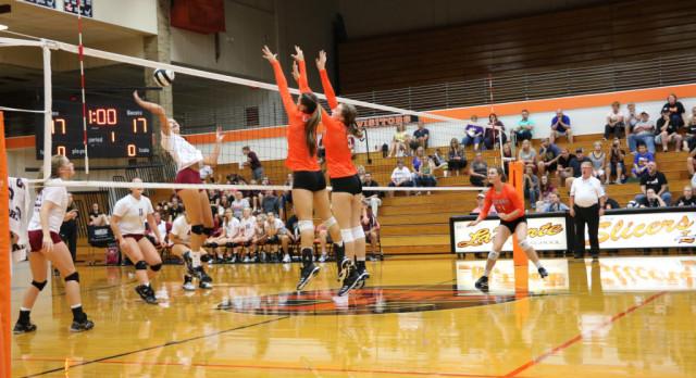 LaPorte High School Girls Varsity Volleyball beat Chesterton High School 3-0