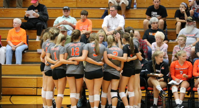 LaPorte High School Girls Varsity Volleyball falls to Crown Point High School 3-0