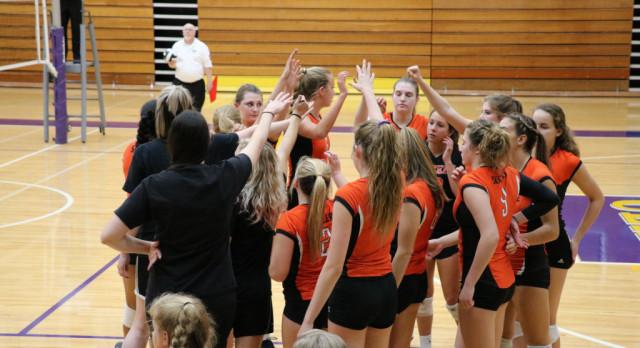 LaPorte High School Girls Varsity Volleyball falls to Penn High School 3-0