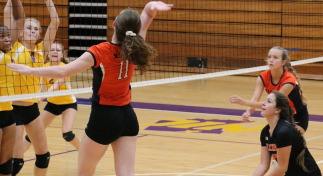 LaPorte High School Girls Varsity Volleyball beat Sectional 3-0