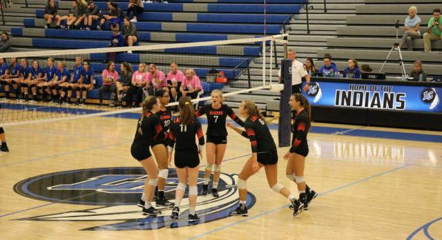 LaPorte High School Girls Varsity Volleyball beat Lake Central High School 3-2