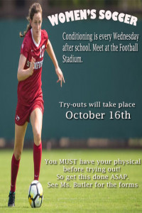 Try Out Poster G Soccer 2017
