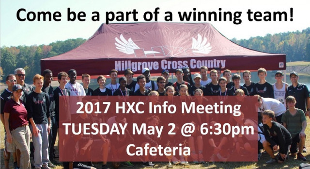 2017 Cross Country Info Meeting May 2!