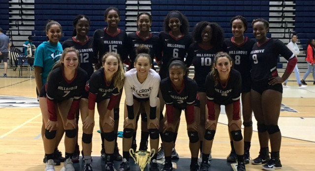 Volleyball Wins Area Championship