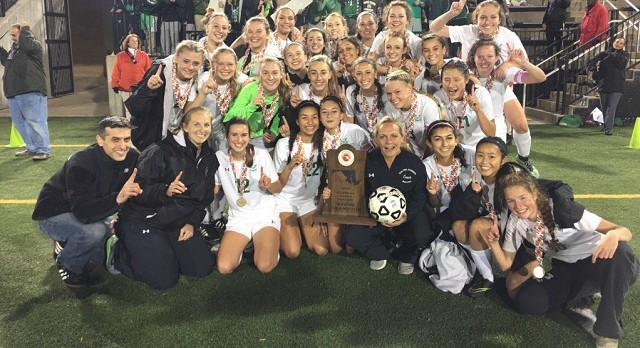 Girls Varsity Soccer State Champions: Beat Perry Hall High School 3-2