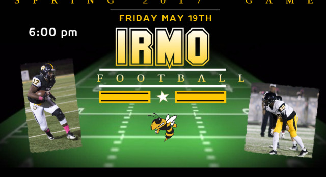 SPRING FOOTBALL GAME FRIDAY MAY 19th @ 6pm