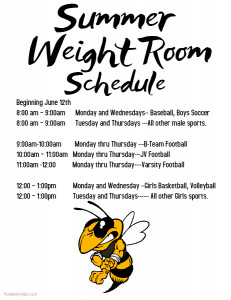 Weightroom Schedule