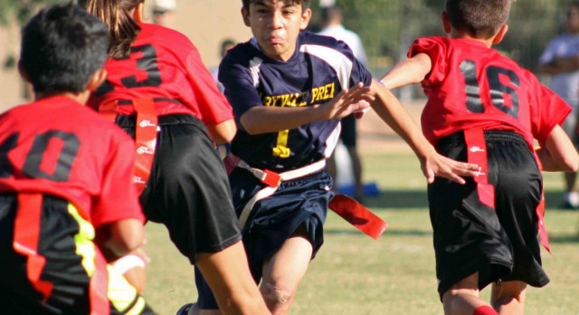 Maryvale Preparatory Academy Boys Middle School Flag Football beat Chandler Preparatory Academy 28-12