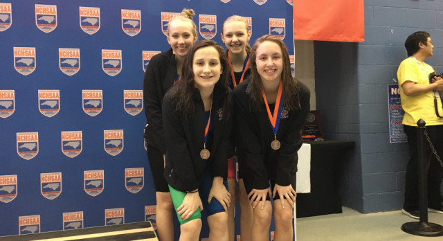 Swimmers Competed at States in Cary, NC