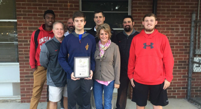 Bryce DeSantis wins WNNC Golden Helmet Player of the Week