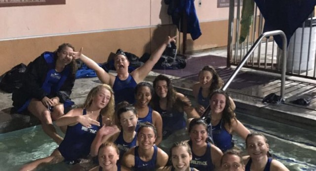 West Hills High School Girls Varsity Water Polo beat Patrick Henry High School 7-3