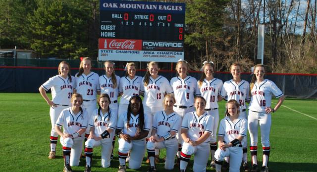 Oak Mountain High School Varsity Softball beat Chelsea High School 5-4