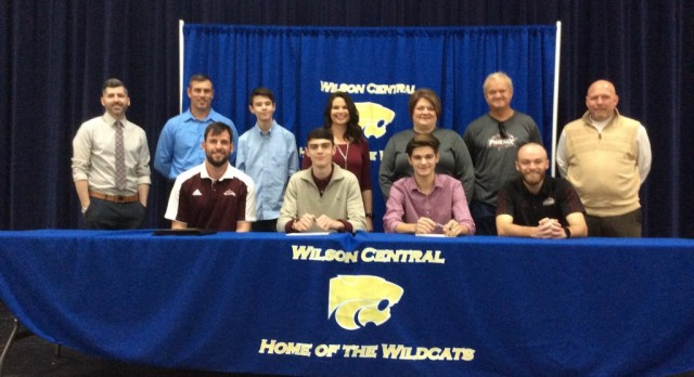 Wildcat Soccer players Alec Barger and Tyler Gilbert sign with Cumberland University