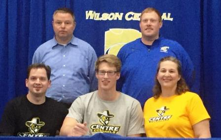 Noah Stafford signs with Centre College, Danville Kentucky.