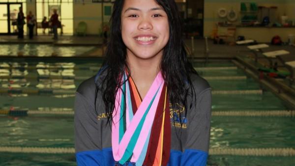 Mia Harris swimming pic