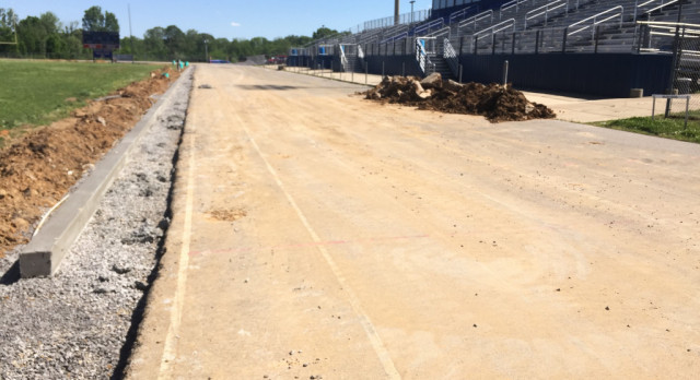 Track&Field—-New track moves closer to completion……