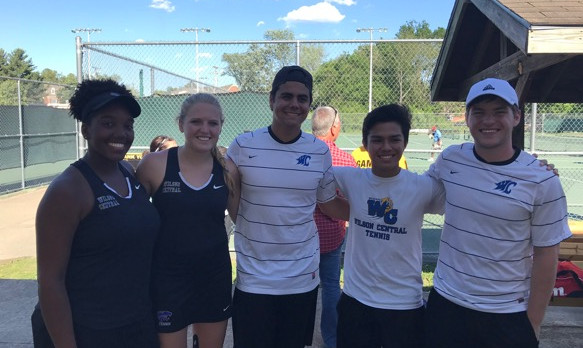 Tennis—Boys/Girls—-End Seasons in District Semi-finals.  Mercante to Play Monday in Regional Individual