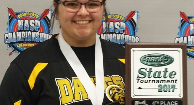Kailey Lindsley places 4th at State Archery Meet