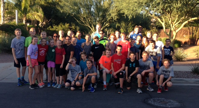 Higley Cross Country runs with future teammates!