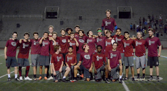 Grady Ultimate Gauntlet Varsity Boys Are Ranked #3 in the Country