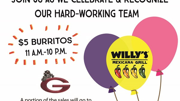Willy's 5th Anniversary - Grady Fundraiser Flyer