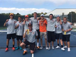 Boys tennis at Regionals 2017