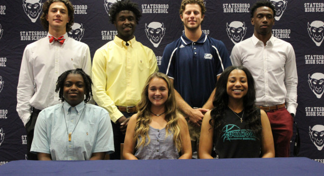 7 Blue Devil Athletes Sign Scholarships