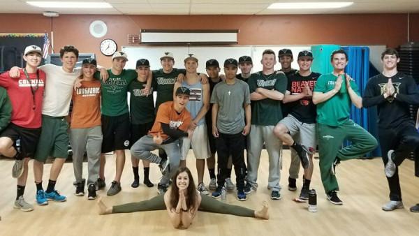 Varsity Baseball Goes Yoga