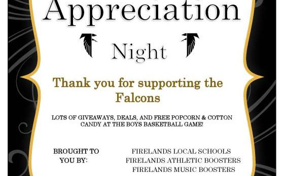 Fan Appreciation Night set for Feb. 3rd