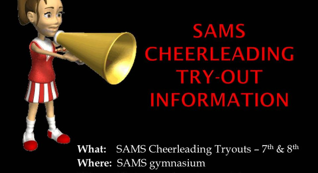 Middle School Cheerleading Try-outs