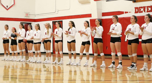 Volleyball falls to Brookside in 4