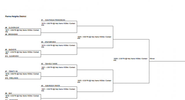Volleyball gets #10 seed will face #7 Trinity on 10/18