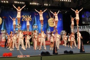 Bartow High School takes home the large varsity coed win during the 2016 National High School Cheerleading and Dance Team Championships