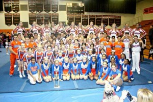 Bartow Cheer Teams earn first place at local county competition