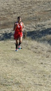 Singh running strong as she charges up a hill at American Canyon.