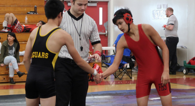 Wrestlers on the Mats