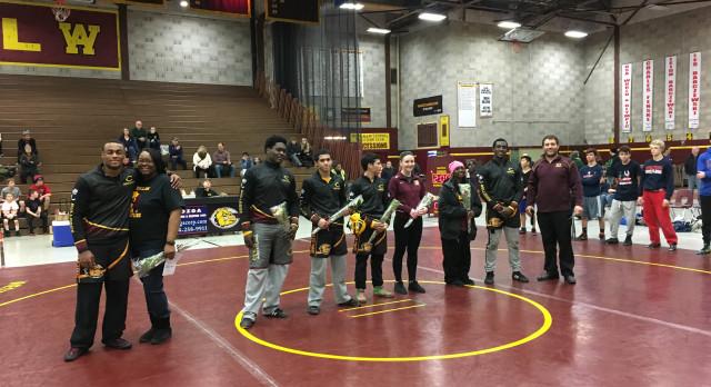 West Allis Central High School Varsity Wrestling beat Brookfield East High School 47-28