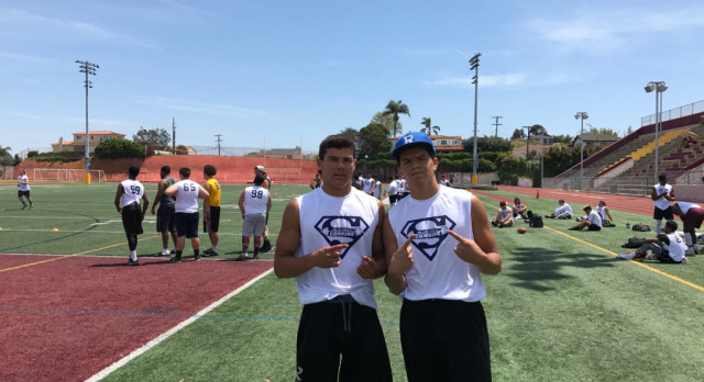 WR's McManus and Gabriel Compete at Blue-Grey Combine