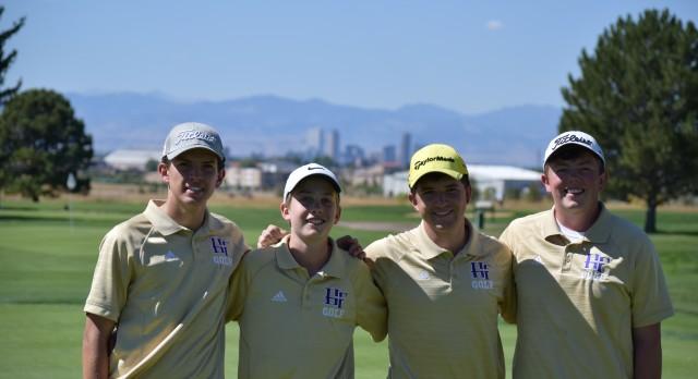 Holy Family High School Boys Varsity Golf finishes 4th place