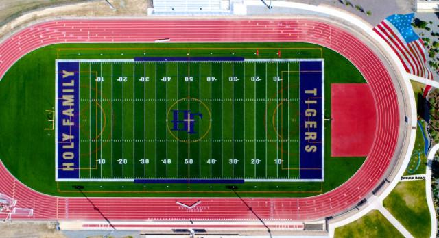 Holy Family High School Varsity Football beat Thompson Valley High School 49-2