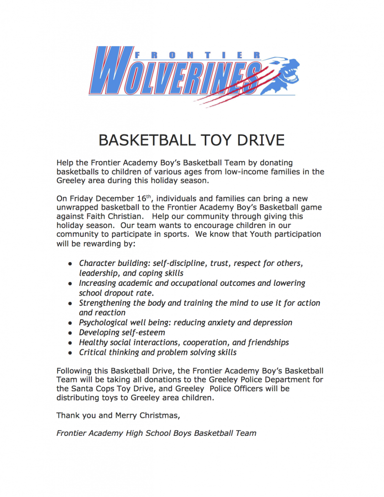 Basketball toy Drive