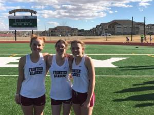 400 meter athletes Kaylee Howell, CeeJay Nelson, Cody-Lynn Daniel