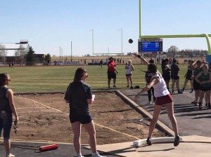 Emily Helm Throwing The Shot Put